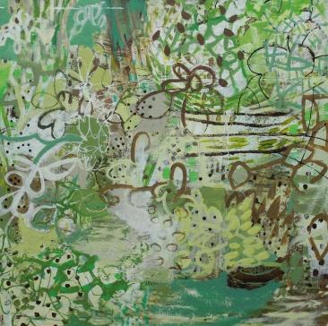 Spring Runoff acrylic/canvas 24x24