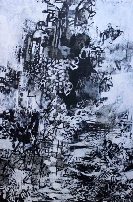 Corpus allatum acrylic/canvas 60x40